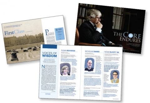 """Image collage from recent articles, featuring an image from CCT's Spring 2020 story """"Voices of Wisdom"""""""