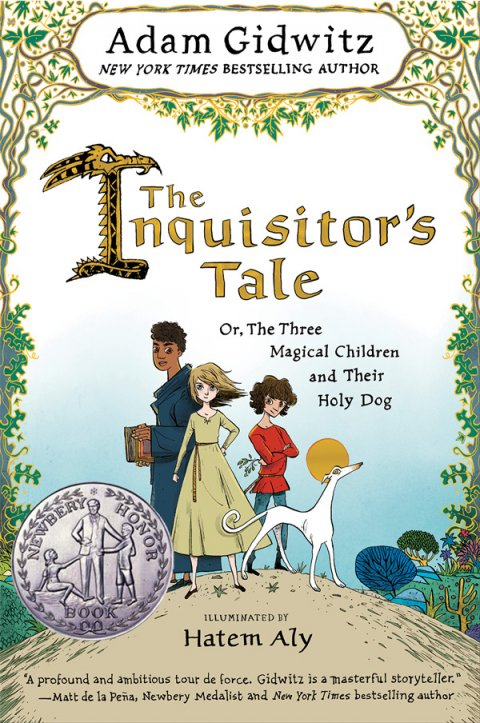 "Book cover for ""The Inquisitor's Tale, Or, The Three Magical Children and Their Holy Dog"""
