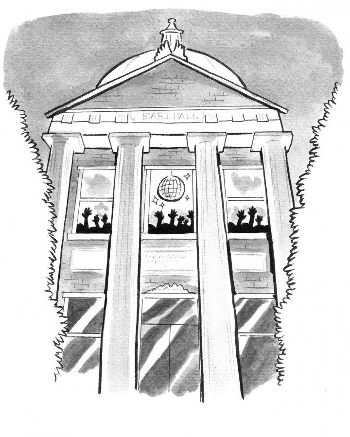 Illustration of Earl Hall