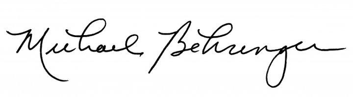 Michael Behringer's signature