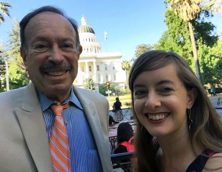 Bob and Rebecca at CA Capitol