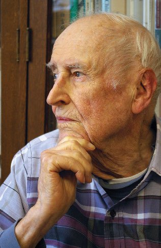 An elderly white man in profile