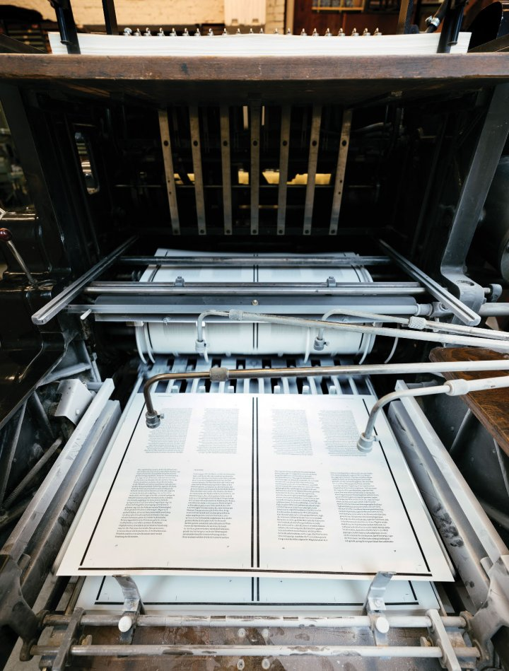 Photo of documents being printed