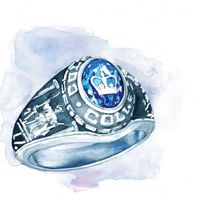 illustration of a class ring