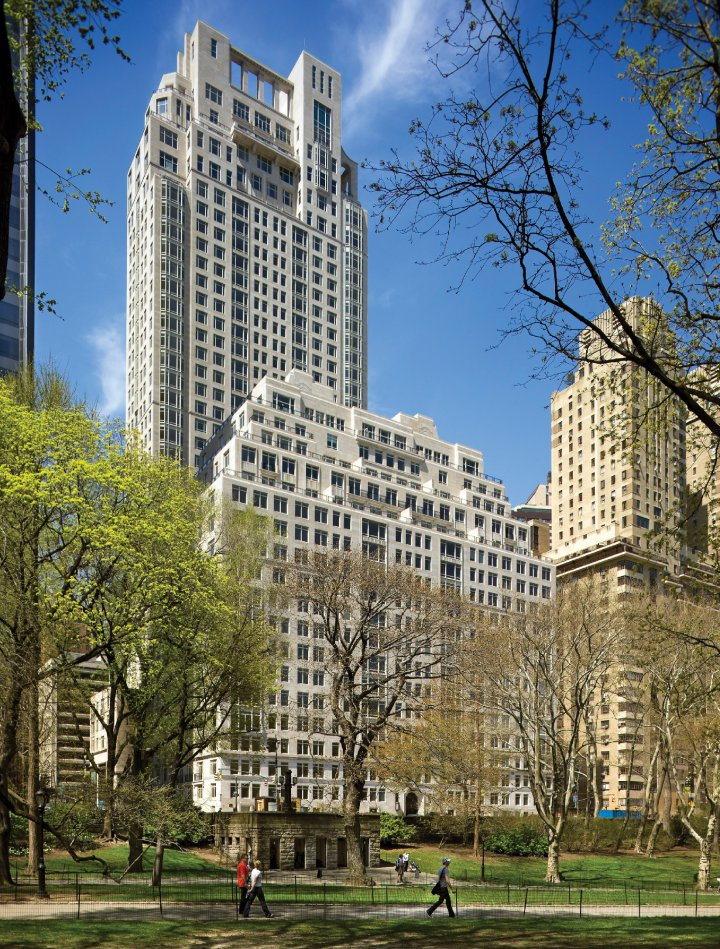 A building seen from Central Park
