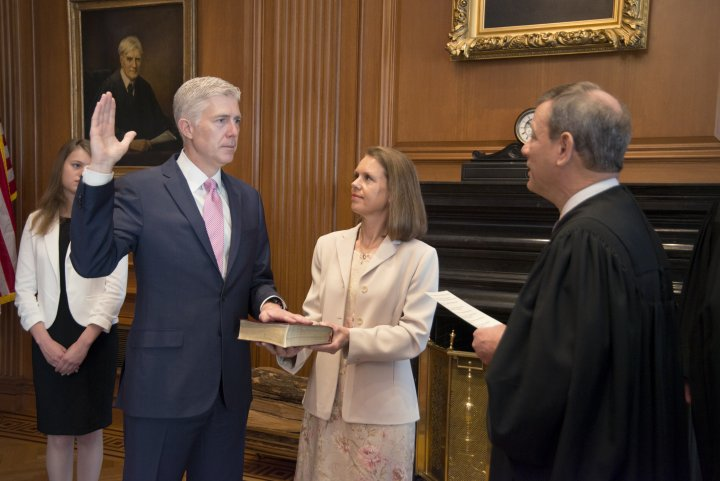 Gorsuch Swearing In Ceremony