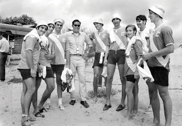 The Columbia heavyweight crews swept the Miami Intercollegiate Regatta in March 1969