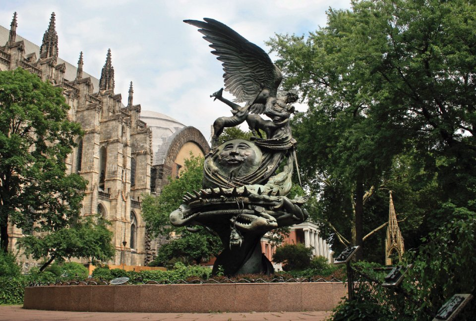 The sculpture south of St John the Divine