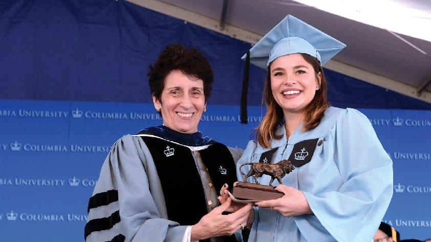 Dean Kathryn B. Yatrakis and Gabriella Zacarias '16