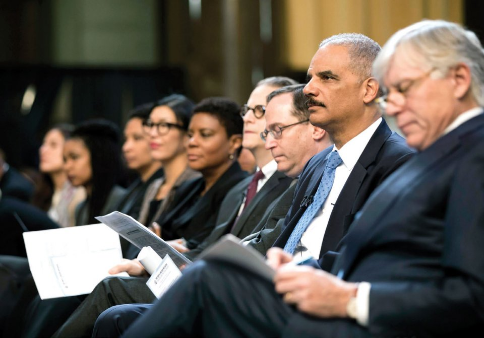 Photo of Eric Holder taken at the launch event for the Holder Initiative