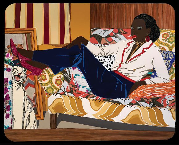 Image of Portrait of Mnonja, 2010 by Mickalene Thomas