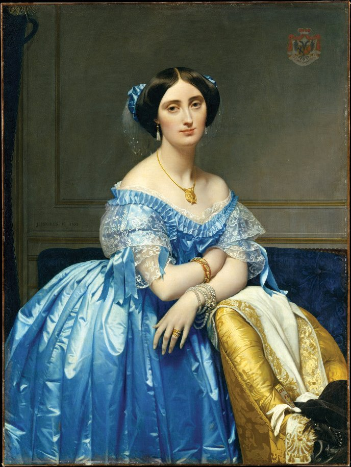 Princesse de Broglie, by Ingres