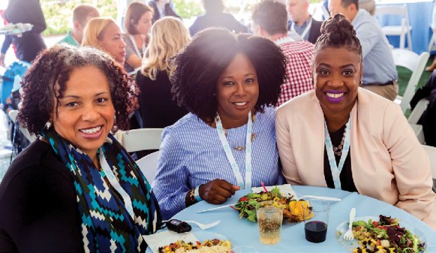 Good times at the Tri-College Reunion Luncheon.