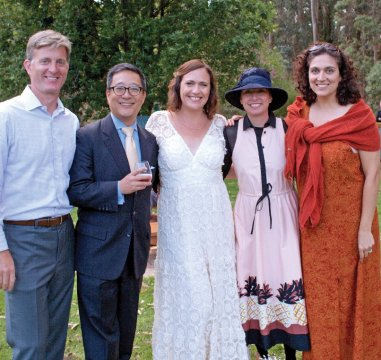 Photo from the wedding of Alison Gang '94 and Mark Johnson