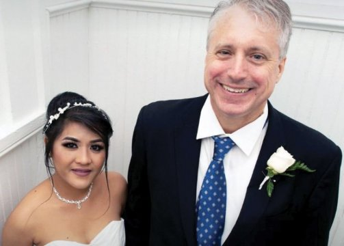 Photo from the wedding of Thomas Coffin Willcox '84 and Glenda Lombrino