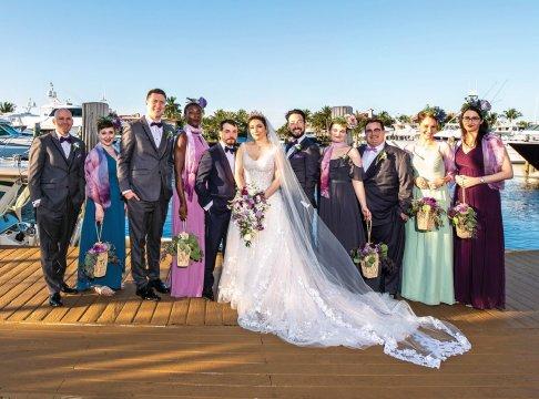 Gabriella Ripoll '10 and Filipe Fernandes and wedding guests