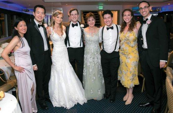 Asya Gottesman and Lawrence Geyman '12 and wedding guests