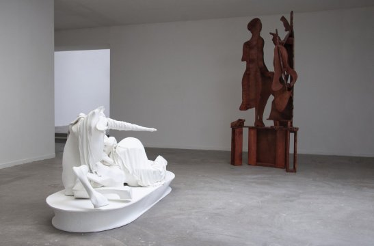 Two sculptures by Rachel Feinstein '93.