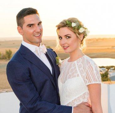 Matt Pruznick '11 married Missy Sohigian on October 6 at the Torre de Palma Wine Hotel in Monforte, Portugal
