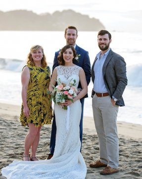 Brenda Salinas '12 married Nick Baker '12 in Sayulita, Mexico, on January 4