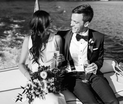 Lauren Ko '10 married Michael Milligan on June 2 at Sebago Lake, Maine