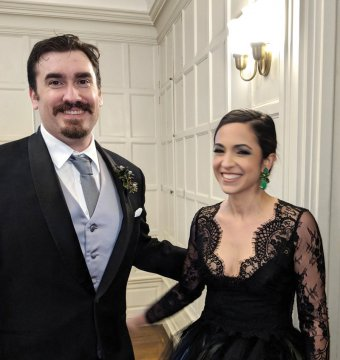 James Bondarchuk '05 and Pardis Dabashi '08 were married in October at the Eolia Mansion in Waterford, Conn.
