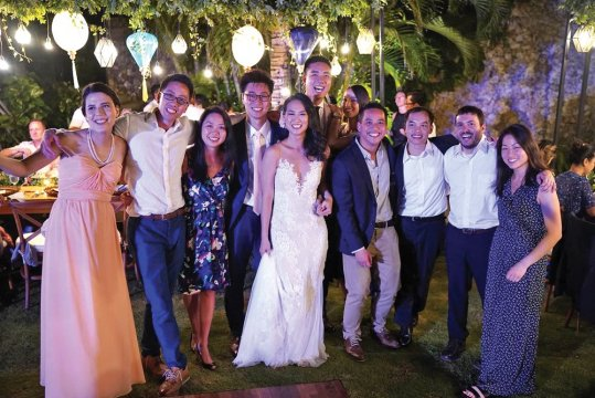 Joyce Hau '07 and Edward Chiang SEAS'07 were married in Bali
