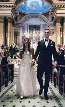 Allison McLaren TC'15 and Ryan Haslett '12 were married in Old City Philadelphia on November 17