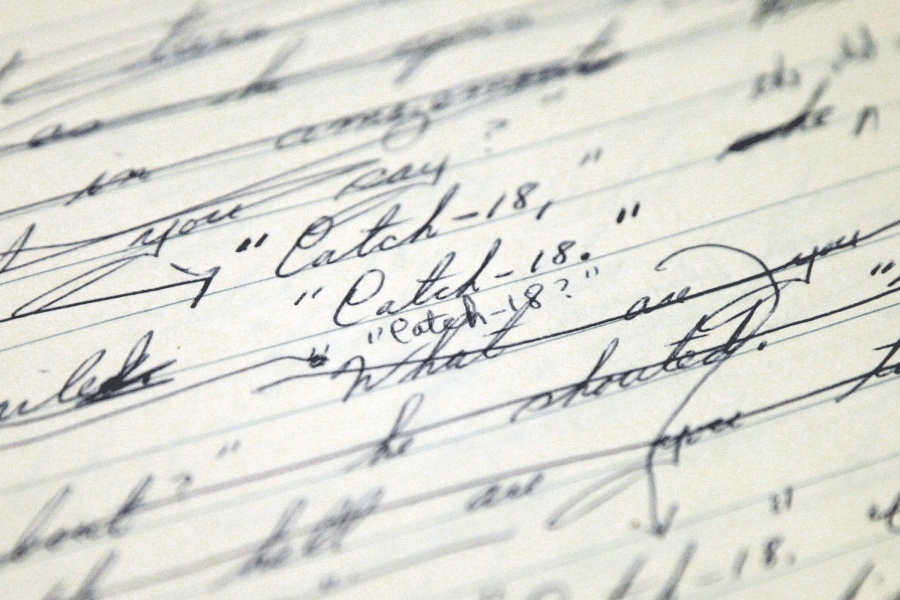 Handwritten Catch-22 manuscript when it was titled Catch-18