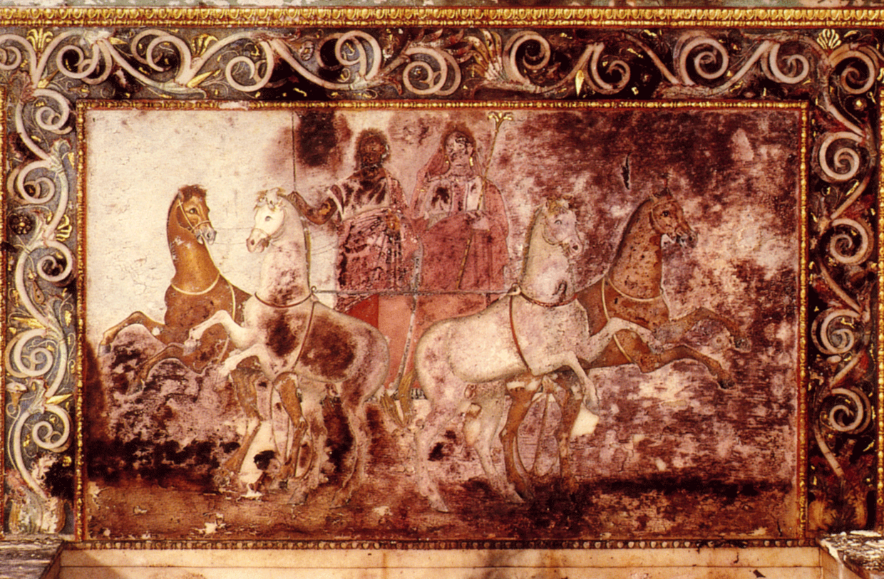 hades and persephone painted throne macedonia province
