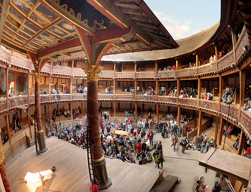 Shakespeare's Globe Theater, London, designed by Theo ...