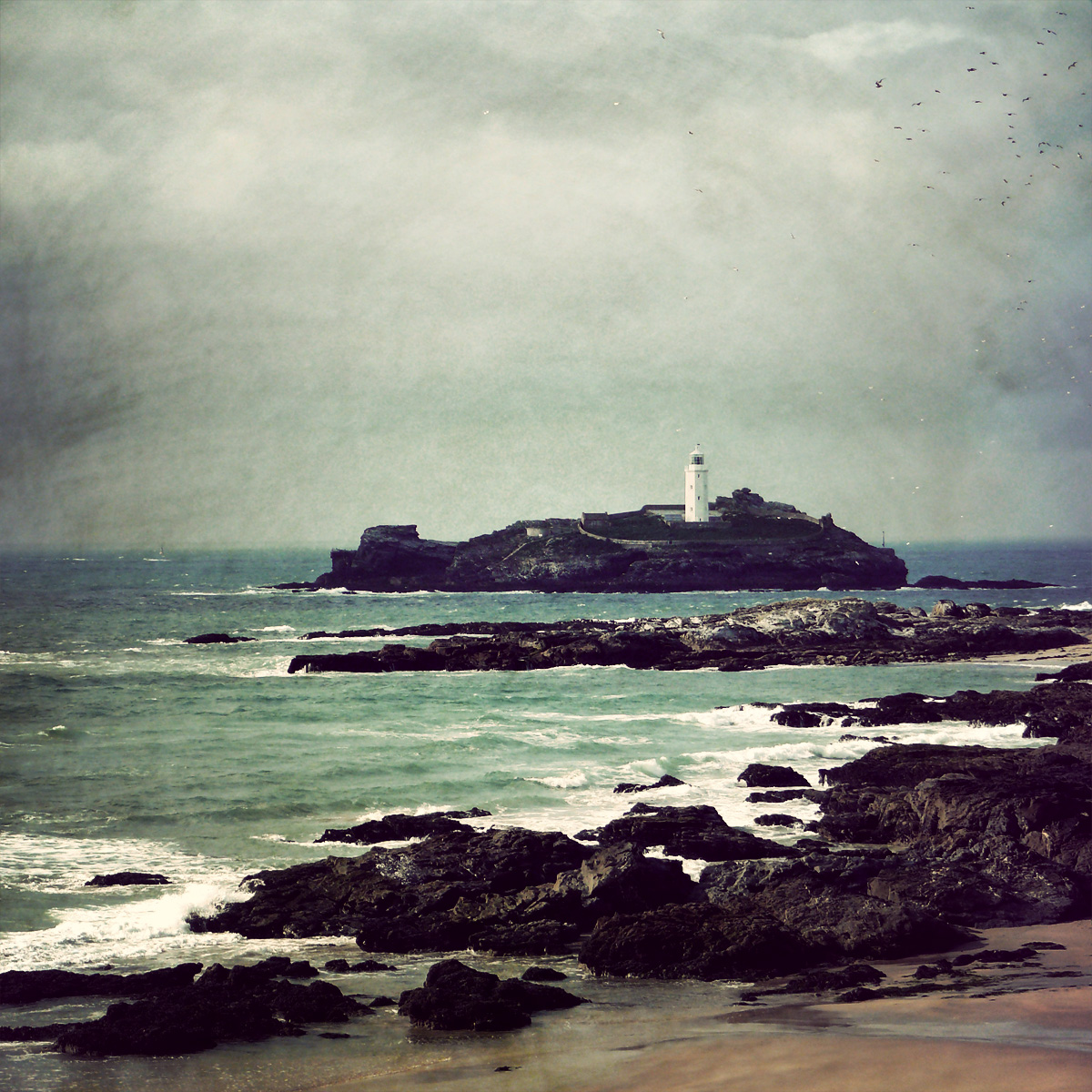 Saint Ives (Cornwall) United Kingdom  City pictures : Godrevy Lighthouse, St Ives Bay, Cornwall, United Kingdom, by ...