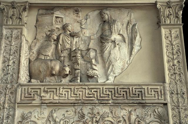 Aeneas Sacrificing A Sow Altar Of Peace Ara Pacis Rome