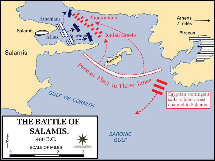 Battle of salamis map the core curriculum battle of salamis map gumiabroncs Image collections
