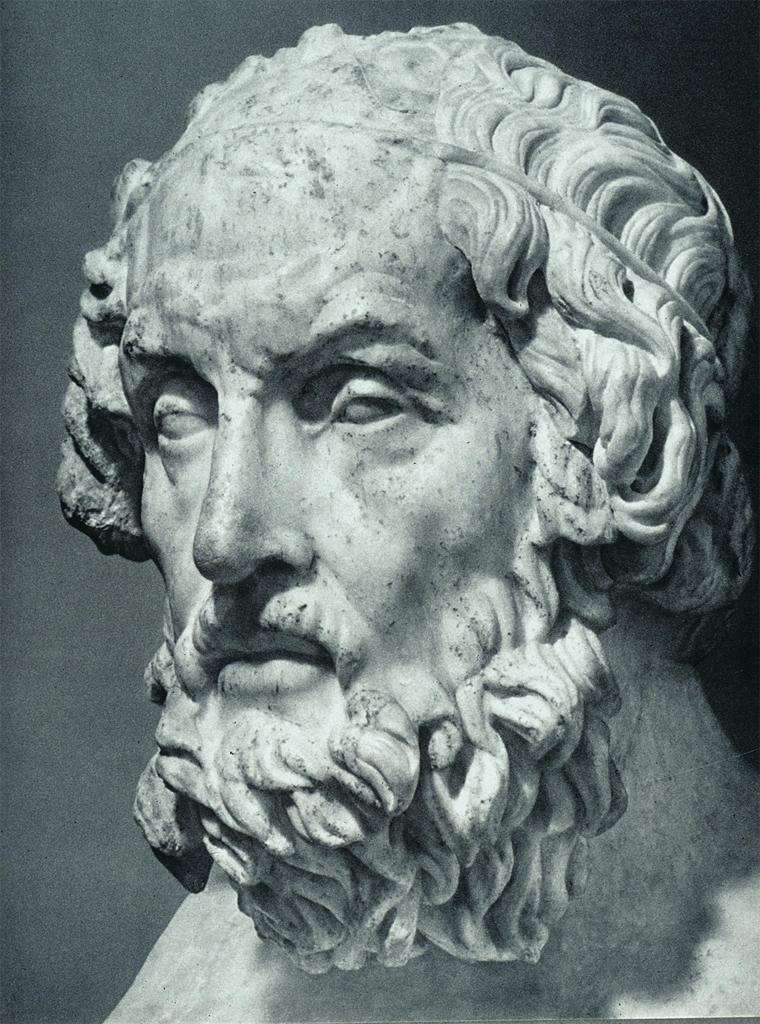 Portrait Bust of Homer Mid-2nd C., BCE (University of California, San Diego)