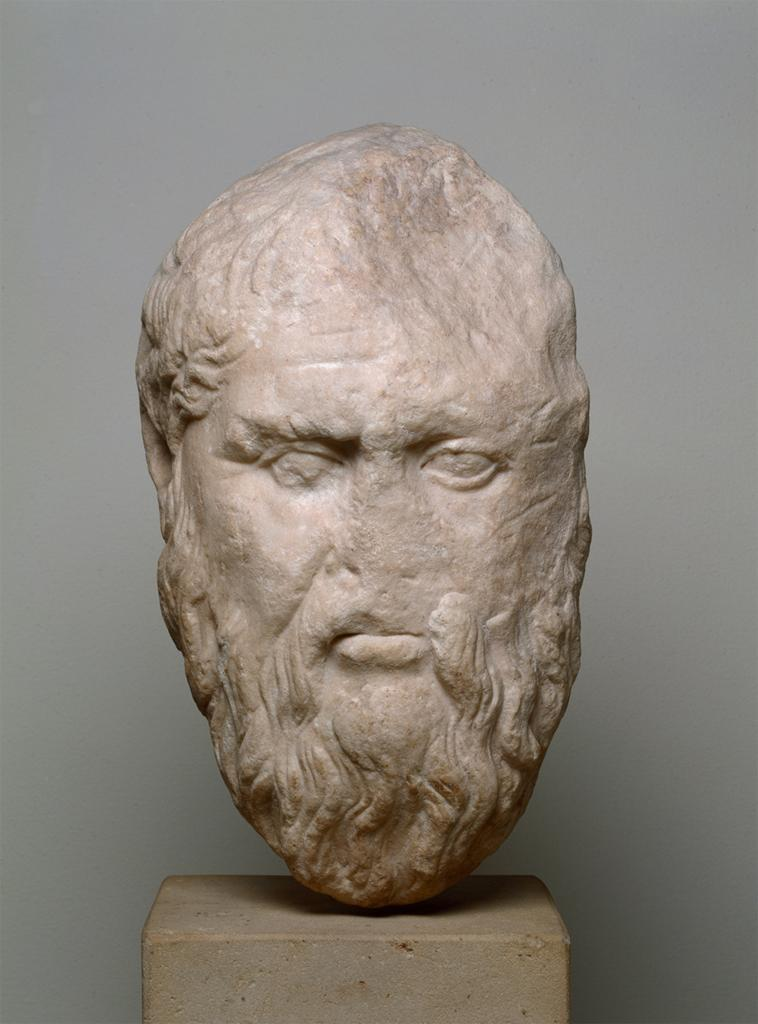 A Roman Copy of a statue of Plato. The original was made by Silanion in the 4th c B.C. Source: Staatliche Museen zu Berlin, Stiftung Preussischer Kulturbesitz