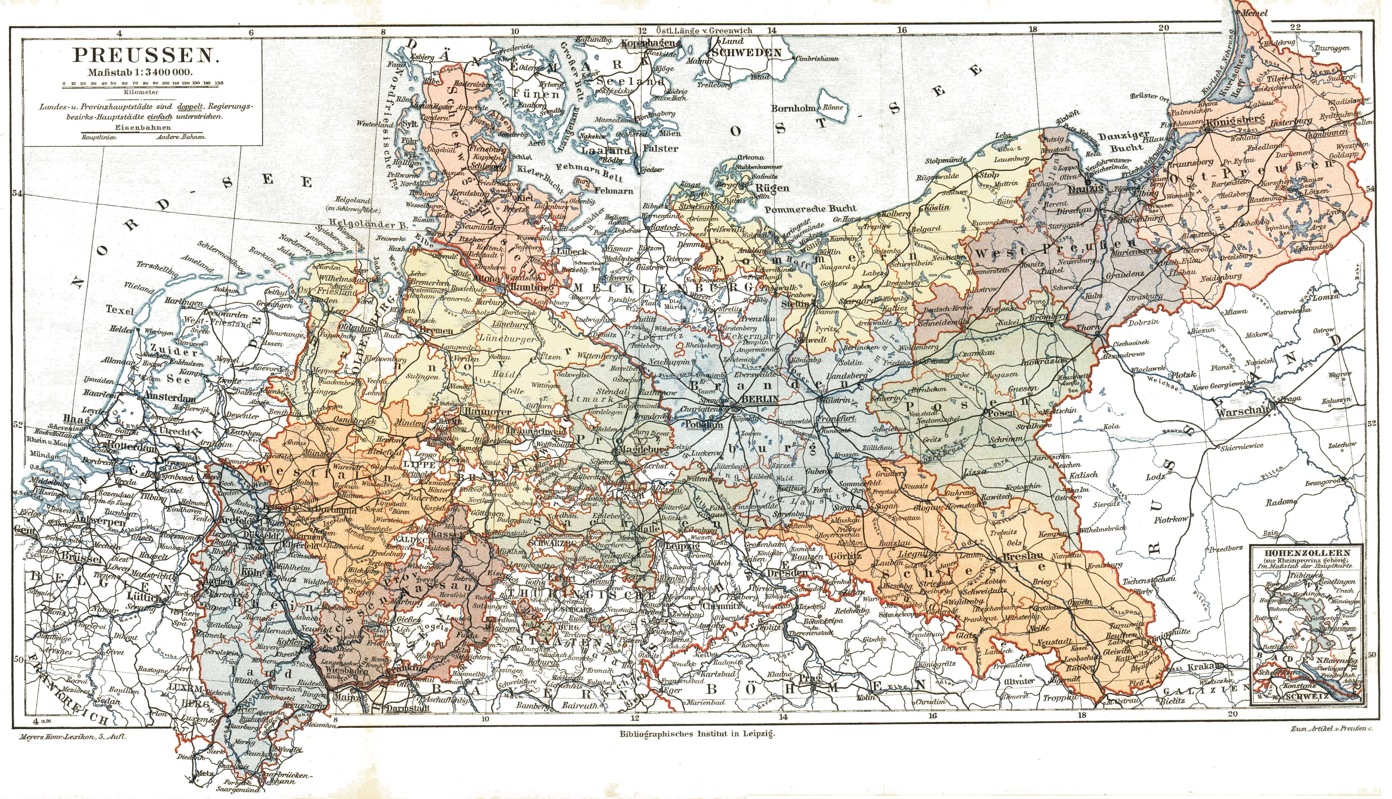 Map of Prussia before 1905 . | The Core Curriculum