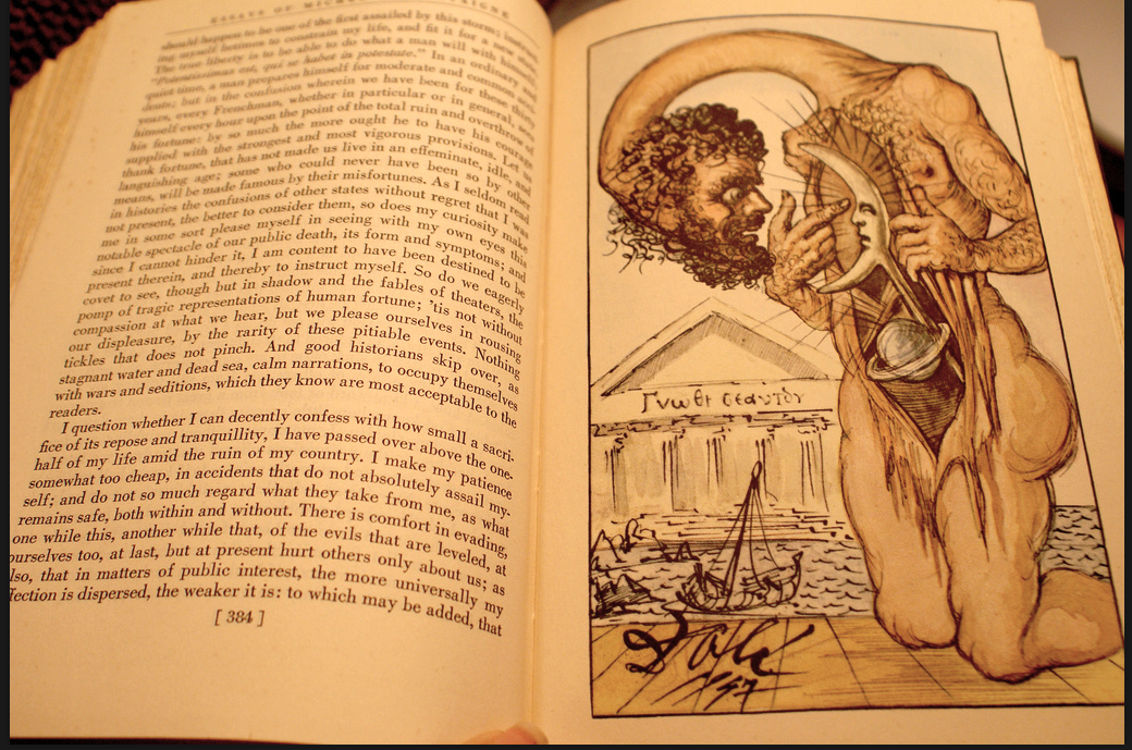 montaigne s essays illustrated by salvador dali the core  montaigne s essays illustrated by salvador dali 1947