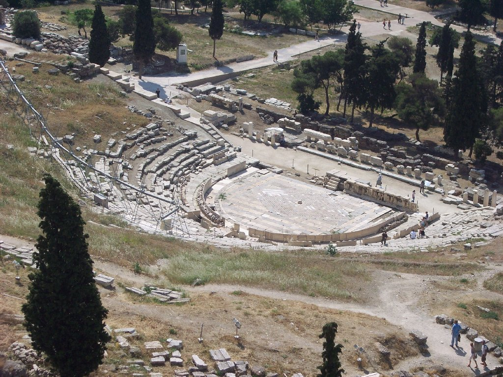 a literary analysis of the theatre of dionysus Theatre of dionysus: theatre of dionysus, prototype of greek theatres, situated on the south side of the acropolis in athens, in which all extant classical greek.
