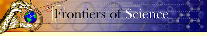 Frontiers of Science Banner