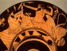 Representation Of A Symposium Attic Red Figure Cup Contemporaneous Resource