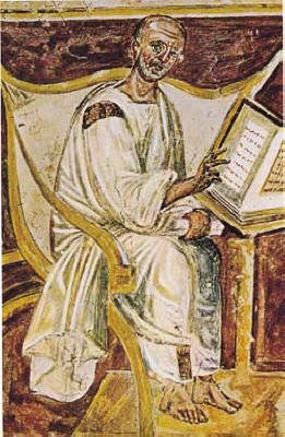 St. Augustine. Lateran Fresco, by an Unknown Artist, late 6th cent. CE