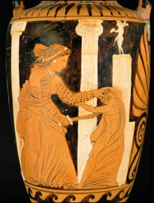 Medea Killing Her Child. Amphora. 4th c. BCE: Louvre Museum. Paris, France. ArtStor: Erich Lessing Culture and Fine Arts Archive