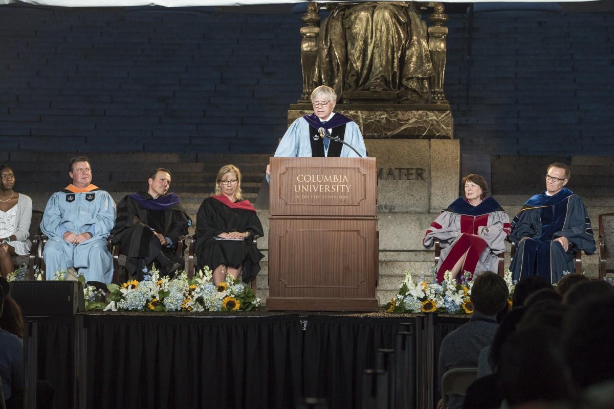 President Lee C. Bollinger speaks at Convocation