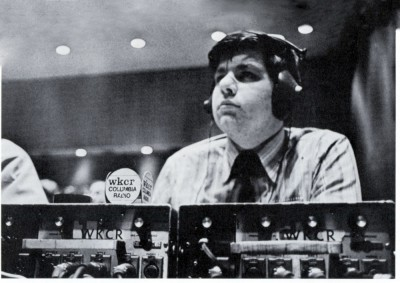 A WKCR programmer in 1971. Photo: Courtesy Columbia College Today