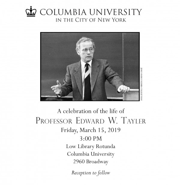 Celebrate the life of Ted Tayler on Fri., March 15