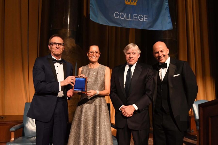 Lisa Carnoy, President Bollinger, Dean Valentini, Michael Behringer