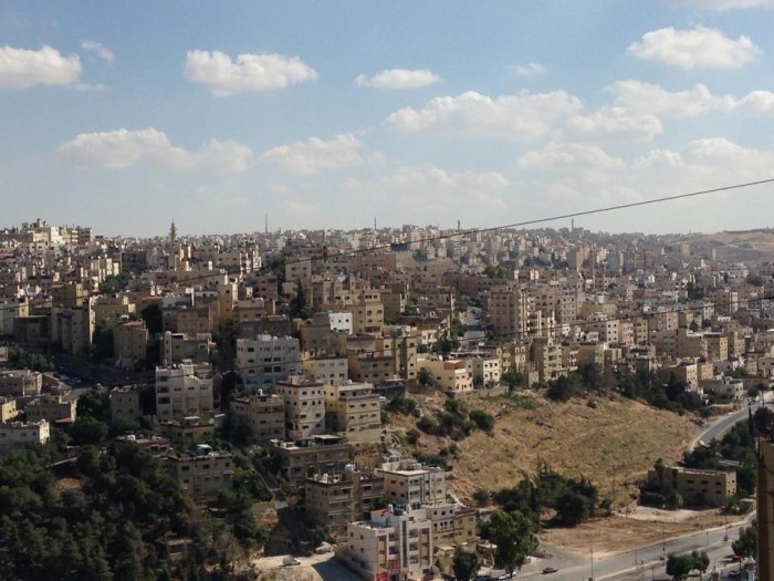 A view of Amman from Meghna's neighborhood. Photo: Courtesy Meghna Mukherjee CC'15