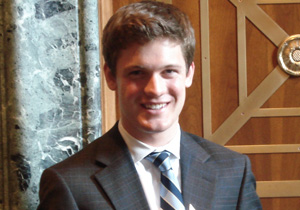 Rhodes Scholar Raphael Graybill, pictured here at the U.S. Capitol, where he worked as a summer associate for the Senate Finance Committee (Image credit: James Frisk)