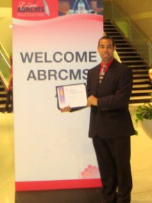 Senior Brian Lewis at The Annual Biomedical Research Conference for Minority Students